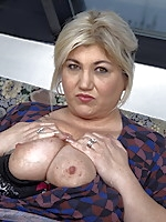 Naughty mature BBW getting it in POV style