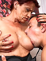 Extremely pierced German lady doing her toy boy